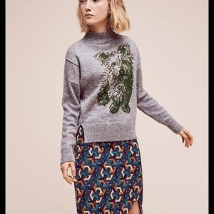 Anthropologie Moth Dog Sweater Turtleneck